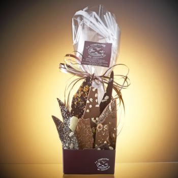 Composition de feuilles de chocolats assorties-210 grs