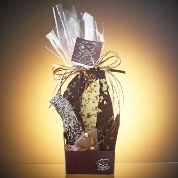 Composition de feuilles de chocolats assorties-280 grs