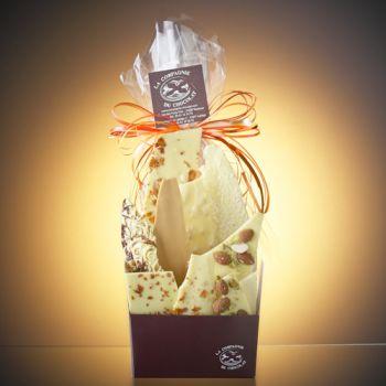 Composition de feuilles de chocolats blanc -350 grs