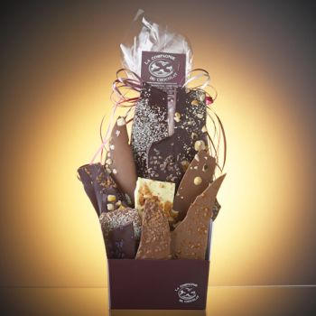 Composition de feuilles de chocolats assorties-440 grs