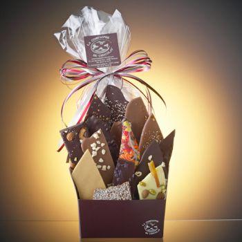 Composition de feuilles de chocolats assorties-615 grs