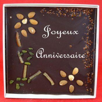 Tableau Bon anniversaire chocolat noir