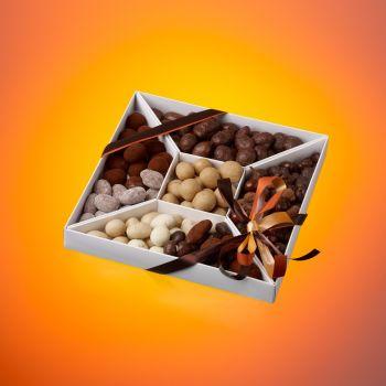 Coffret Trapèze Fruits secs chocolatés 400 grs