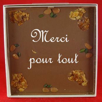 Tableau chocolat lait Merci beaucoup