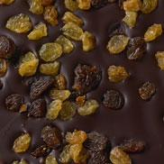 Chocolat noir aux raisins